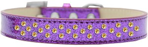 Sprinkles Ice Cream Dog Collar Yellow Crystals Size 14 Purple